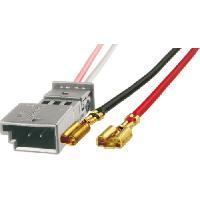 Cables Adaptateurs HP 2 Connecteurs haut-parleur compatible avec Citroen Peugeot