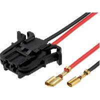 Cables Adaptateurs HP 2 Connecteurs haut-parleur compatible avec Mercedes Classe A C CLK E - 2 Fils