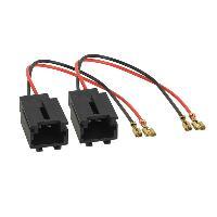 Cables Adaptateurs HP 2 adaptateurs haut-parleur compatible avec Peugeot Citroen