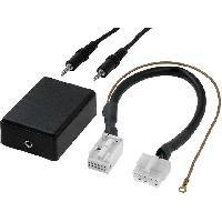 Cables Autoradios, AUX, telecommandes Adaptateur Autoradio AUX - Fakra 12PIN Jack 3.5mm pour Audi Seat VW Skoda - ADNAuto