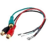 Cables Autoradios, AUX, telecommandes Cable Adaptateur AUX 3x RCA Broches nues
