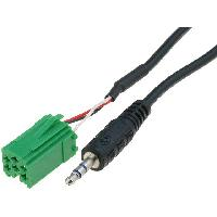 Cables Autoradios, AUX, telecommandes Cable Adaptateur AUX Jack pour Renault ap07 - ADNAuto