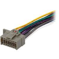 Cables Specifiques Autoradio ISO Cable Autoradio Panasonic 16PIN Fils nus - connecteur noir - ADNAuto