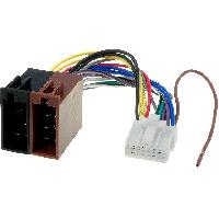 Cables Specifiques Autoradio ISO Cable Autoradio Panasonic 16PIN Vers ISO- connecteur blanc