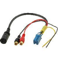 Cables changeur CD Adaptateur pour changeur de CD VW Panasonic 0.25m avant 2004
