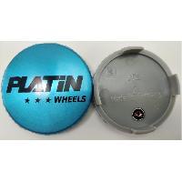 Caches-moyeux 1 Cache Moyeu plat avec logo argent pour Jante P72 - Ext 60mm - Platin
