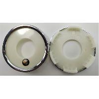 Caches-moyeux 1 Cache moyeu plat sans sticker pour jante P53 P56 P58 P60 - Ext 60mm - Int 50mm Platin
