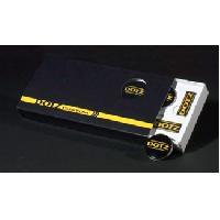 Caches-moyeux Pack 4 caches Moyeux - 4 autocollants DOTZ - couleur noir-jaune