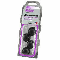Caches Boulons 4 Caches ecrou antivol Noir compatible avec antivol Mc GARD 24010SU 24013SU