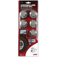 Caches Boulons Cache-ecrous Camion ABS chromes 33mm x10 - Lampa