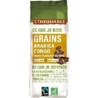 Cafe - Chicoree Cafe Congo en grains Bio - 250 g - 100 Arabica - intensite 35