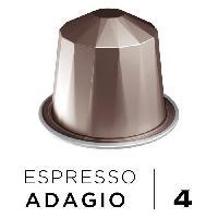 Cafe - Chicoree Cafe Espresso Adagio Intensite 4 - Compatibles Nespresso - 10 capsules aluminium - 55 g