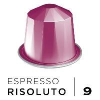Cafe - Chicoree Cafe Espresso Risoluto Intensite 9 - Compatibles Nespresso - 10 capsules aluminium - 55 g