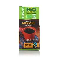 Cafe - Chicoree Cafe moulu pur Arabica Mexique Bio - 250 g
