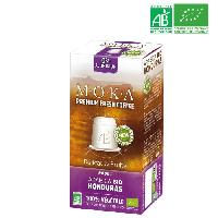 Cafe - Chicoree MOKA 10 capsules de cafe Arabica Honduras - Bio - Compatibles avec le systeme Nespresso