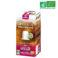 Cafe - Chicoree MOKA 10 capsules de cafe Arabica Mexique - Bio - Compatibles avec le systeme Nespresso