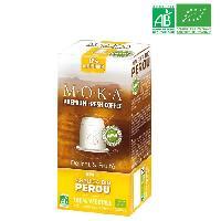 Cafe - Chicoree MOKA 10 capsules de cafe Arabica Perou - Bio - Compatibles avec le systeme Nespresso