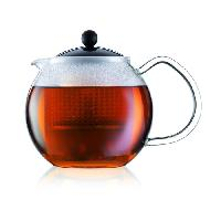 Cafetiere - Theiere - Chocolatiere BODUM Theiere a piston avec anse. couvercle et filtre Assam 0.5 L noir et transparent