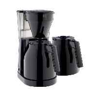 Cafetiere - Theiere - Chocolatiere MELITTA Easy Therm II - Cafetiere filtre 1L - 1050 W + 2eme verseuse - Noir