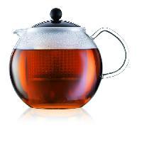 Cafetiere - Theiere - Chocolatiere Theiere a piston avec anse. couvercle et filtre Assam 1.5 L noir et transparent