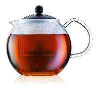 Cafetiere - Theiere - Chocolatiere Theiere a piston avec anse. couvercle et filtre Assam 1 Lnoir et transparent