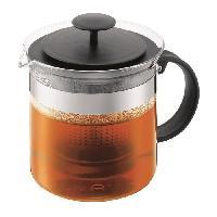 Cafetiere - Theiere - Chocolatiere Theiere a piston avec filtre en acrylique 1.5L - noir
