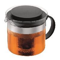 Cafetiere - Theiere - Chocolatiere Theiere avec filtre en acrylique 1L - noir