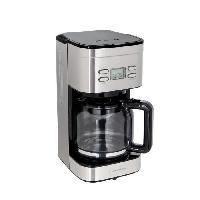 Cafetiere CONTINENTAL EDISON Cafetiere filtre programmable - CECF12TIX - 1.25 L - Inox