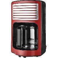 Cafetiere KALORIK TKGCM2500R Cafetiere - Capacité 1.8 L - 1000 W - Rouge et noir