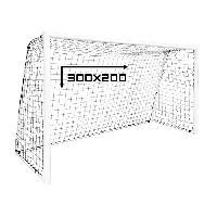 Cage - But - Format Officiel De Football But de Football - Acier - Filet inclus - 300 x 200 cm - Aucune