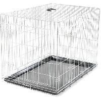 Cage Cage metallique pliable Classic - 109 x 71 x 79 cm - Argent - Pour chien