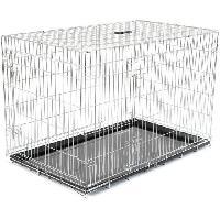 Cage Cage metallique pliable Classic - 122 x 79 x 86 cm - Argent - Pour chien