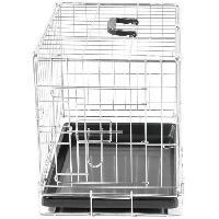Cage Cage metallique pliable Classic - 48 x 30 x 38 cm - Argent - Pour chien