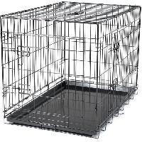 Cage Cage metallique pliable Classic - 91 x 61 x 66 cm - Noir - Pour chien