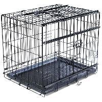 Cage Cage metallique pliable Premium - 56 x 33 x 41 cm - Noir - Pour chien