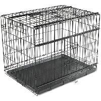 Cage Cage metallique pliable Premium - 76 x 53 x 61 cm - Noir - Pour chien