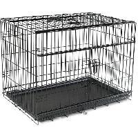 Cage Cage metallique pliable Premium - 91 x 61 x 69 cm - Noir - Pour chien