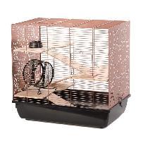 Cage DUVO Cage Copper Lex - 58x38x55.5 cm - Noir et cuivre - Pour rongeurs