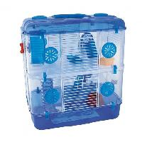 Cage DUVO Cage Tess Two Level Deluxe - 39x33x44 cm - Bleu - Pour rongeurs