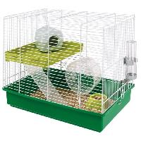 Cage FERPLAST Cage Hamster Duo - 46x29x37.5 cm - Blanc - Pour hamster