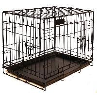 Cage RIGA Cage pour chien - Taille M - Noir - 79 cm