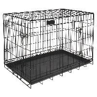 Cage RIGA cage pliable chiens GM - L 91 x l 58 x H 66 cm - Grands chiens - Noir