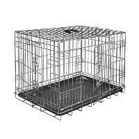 Cage VADIGRAN Cage metallique pliable Classic - 61 x 46 x 51 cm - Argent -Pour chien