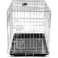 Cage VADIGRAN Cage metallique pliable Classic - 76 x 48 x 55 cm - Argent - Pour chien