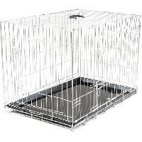 Cage VADIGRAN Cage metallique pliable Classic - 91 x 61 x 66 cm - Argent - Pour chien