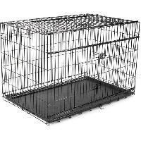 Cage VADIGRAN Cage metallique pliable Premium - 122 x 76 x 84 cm - Noir - Pour chien