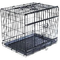 Cage VADIGRAN Cage metallique pliable Premium - 61 x 46 x 53 cm - Noir - Pour chien