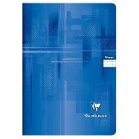 Cahier CLAIREFONTAINE - Cahier piqûre - 21 x 29.7 - 96 pages Seyes - Couverture pelliculée - Couleur bleue