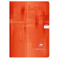 Cahier CLAIREFONTAINE - Cahier piqûre - 21 x 29.7 - 96 pages Seyes - Couverture pelliculée - Couleur rouge
