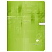 Cahier CLAIREFONTAINE - Cahier piqûre - 24 x 32 - 96 pages Seyes - Couverture pelliculée - Couleur bleu